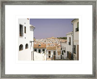 Looking Down Over Antequera  From Near The Church Of Santa Maria La Mayor  Framed Print by Mal Bray