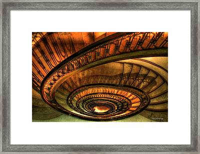 Framed Print featuring the photograph Looking Down The Ponce Spiral Staircase Atlanta Georgia Art by Reid Callaway