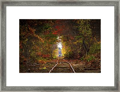 Looking Down The Tracks Framed Print