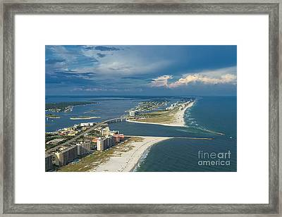 Looking East Across Perdio Pass Framed Print