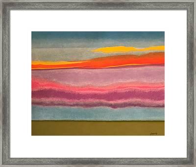 Looking East At Dusk Avon By The Sea Framed Print by Harvey Rogosin