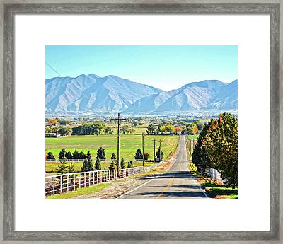 Looking East From West Mountain Framed Print
