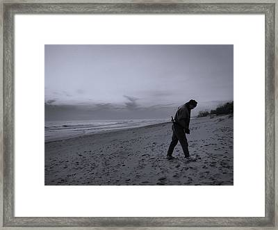 Looking For A Smooth Stone  Framed Print