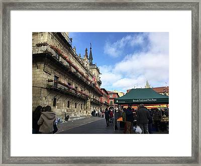 Looking For Fresh Fruits In A Market Framed Print