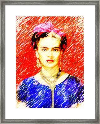 Looking For Frida Kahlo Framed Print