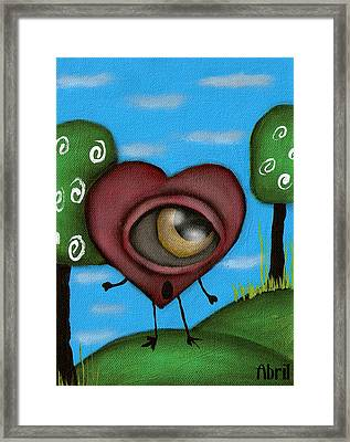 Looking For You Framed Print by  Abril Andrade Griffith