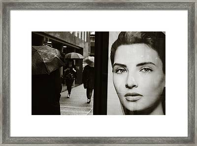 Framed Print featuring the photograph Looking For Your Eyes by Empty Wall