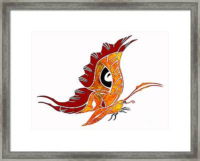 Looking Forward Abstract Bliss Butterflies By Omashte Framed Print by Omaste Witkowski