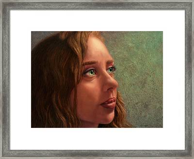 Looking Forward Framed Print by James W Johnson