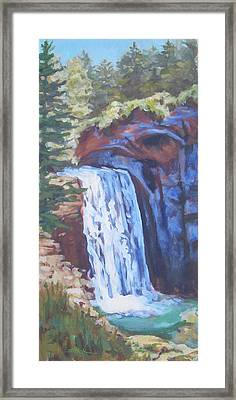 Looking Glass Falls Framed Print by Carol Strickland