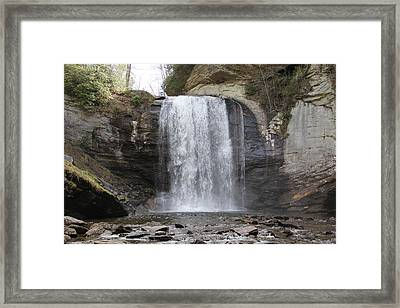Looking Glass Falls Front View Framed Print