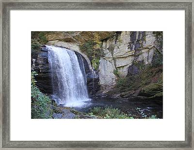 Looking Glass Falls Side View Framed Print
