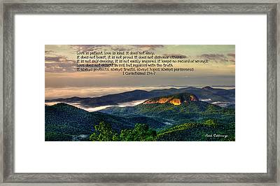 Looking Glass Rock 7 The Love Chapter Framed Print by Reid Callaway