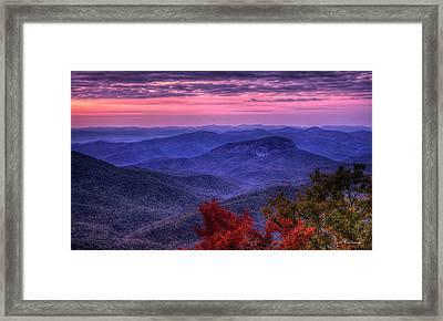 Looking Glass Rock Cloudy Day Sunrise Art Framed Print by Reid Callaway