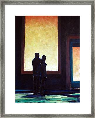 Looking In Looking Out Framed Print by Richard T Pranke