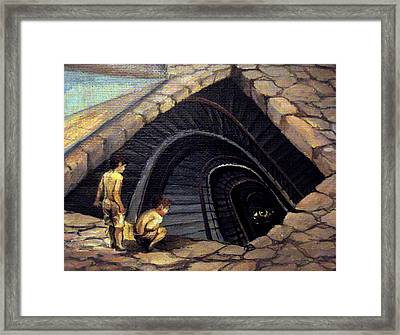 Looking Into Abyss Framed Print by Mikhail Savchenko