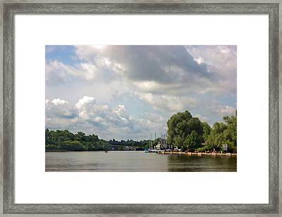 Looking Into Port Framed Print by Art Tilley