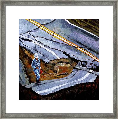 Looking Into The Abyss Framed Print by John Lautermilch