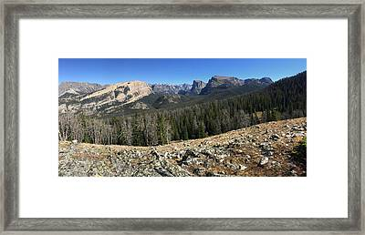 Looking Into The Bridger Wild Lands Framed Print