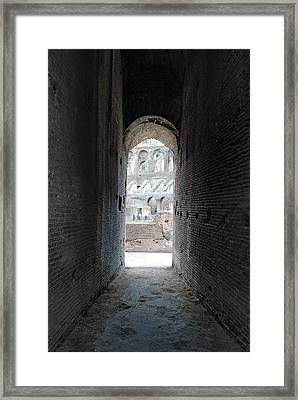 Looking Into The Colosseum Framed Print by Armand Hebert