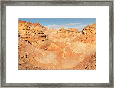 Looking Into The Wave Framed Print