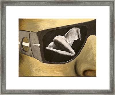 Looking Framed Print by Monty Perales