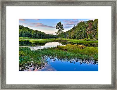 Looking North From The Lock And Dam Framed Print