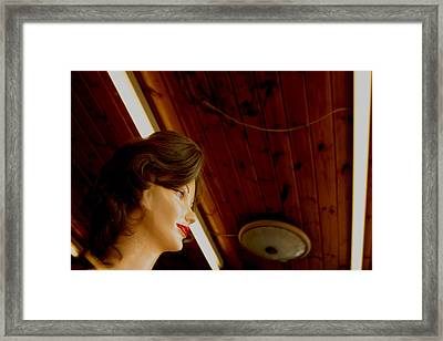 Looking Out As The Day Goes By Without Me Framed Print by Jez C Self