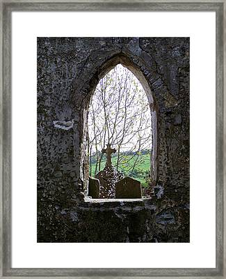Looking Out Fuerty Church Roscommon Ireland Framed Print