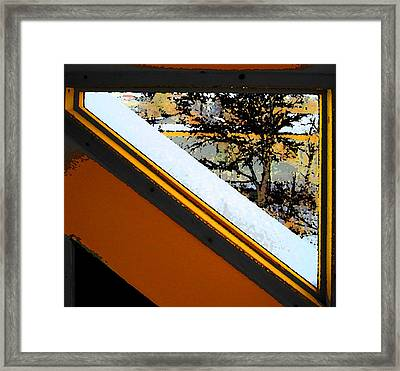 Looking Out My Brothers Window Framed Print by Lenore Senior