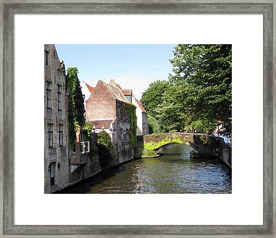 Looking Out On The Canal Framed Print by David L Griffin