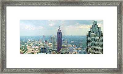 Framed Print featuring the photograph Looking Out Over Atlanta by Mike McGlothlen