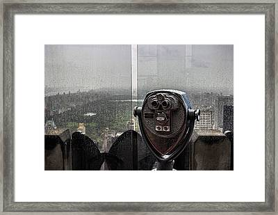 Looking Out Over Central Park Framed Print by Martin Newman