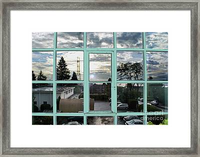Framed Print featuring the photograph Looking Out The Window by Bill Thomson