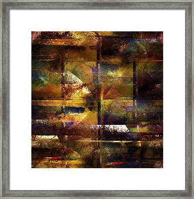 Looking Out Through Bars Framed Print