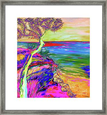 Looking Out To Sea Framed Print by Loredana Messina
