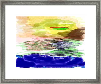 Looking Outward From The Blue Framed Print