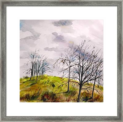 Framed Print featuring the painting Looking Past To The Changing Sky by John Williams