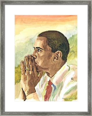 Looking Presidential Framed Print