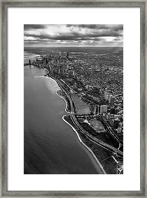 Looking South Toward Chicago From The Friendly Skies Framed Print by Sven Brogren