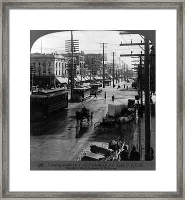 Looking Southeast Along Main Street Framed Print by Everett