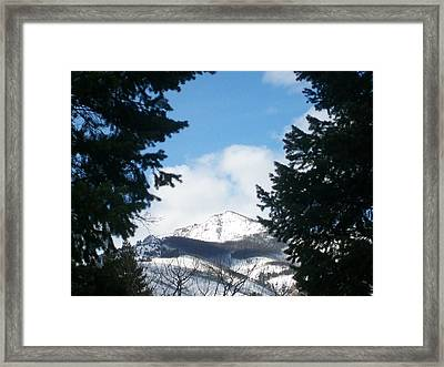 Looking Through Framed Print by Jewel Hengen