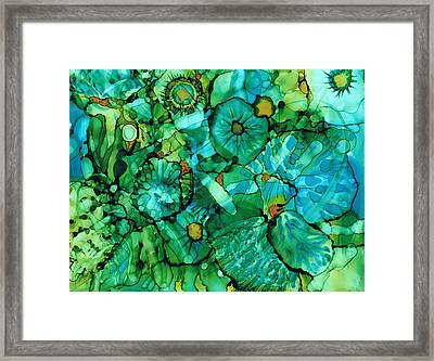 Looking Through Layers Framed Print