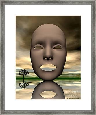Looking Through Framed Print by Sandra Bauser Digital Art