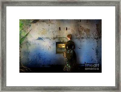 Looking Through The Past To The Future Framed Print by Carrie Jackson