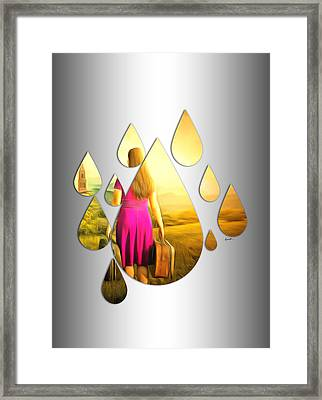 Looking Through The Rain Framed Print by Anthony Caruso