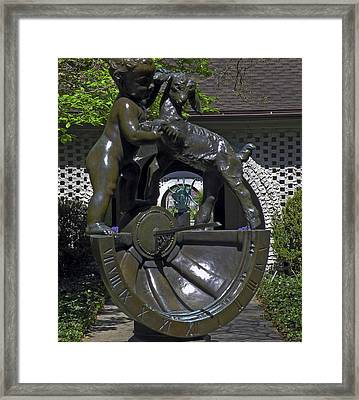 Looking Through The Sundial Framed Print by Gregory Letts