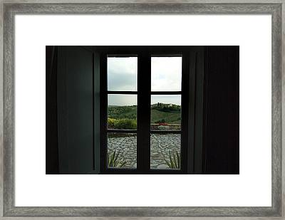Looking Through The Window Of A Tuscan Framed Print by Todd Gipstein