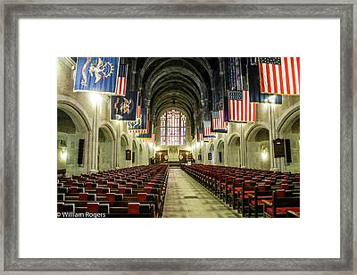 Looking To The Front Of The West Point Chapel Framed Print