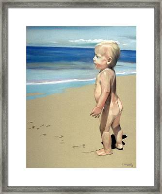 Looking To The Future Framed Print by Cyndi Brewer